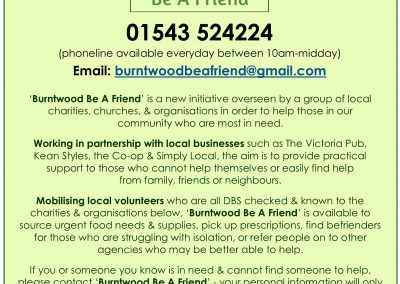 Burntwood Be A Friend